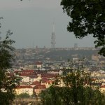 A view of the Prague city (Zizkov tower)