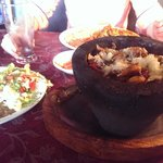 The Molcajete, an eye-catching mix of everything the kitchen has to offer, but a bit oily at the