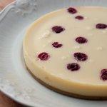 Cheesecake de Chocolate Branco com Framboesas