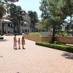 Walkway on resort grounds