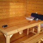 Table in deluxe cabin