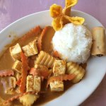 Massaman Curry with tofu lunch special (soup not pictured)
