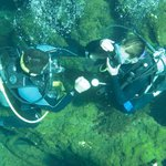 Cenote diving and practicing PADI skills