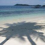 Resort beach and jetty