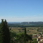 one of the views from the Pope's summer chateau looking out at the vineyards.