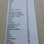 TV Channel list from Holiday Inn LAX