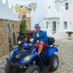 In front the Hotel with my rented Quad