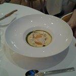 glace au foie gras et crème de maïs
