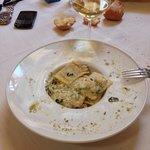 Raviolini di cernia con gamberetti e zucchine