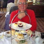 Afternoon tea (with coffee) at the Pump Room.
