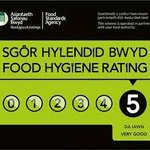 Food Hygiene Raring awarded by Powys County Council.