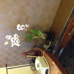 部屋にはオーキッドの花