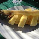 rinfrescante ananas a chiusura di un pasto delizioso...