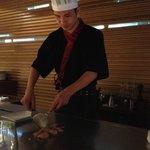 Our Teppanyaki chef, a very funny man.