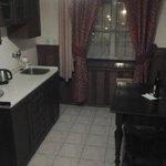 Kitchen/dining/bathroom areas