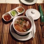 Mushroom and pork soup