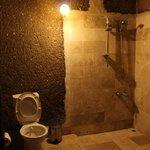 cave room - bathroom
