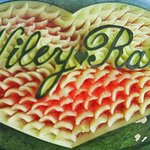 Carved Watermelon of Bride and Groom's Name