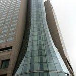 L'ascensore panoramico dall'esterno