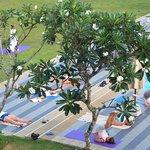 Tägliches Yoga gehört zur Ayurveda-Behandlung