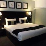 The bedroom in the secret garden suite