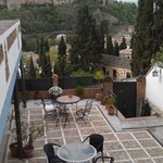 Terrace with Alhambra view