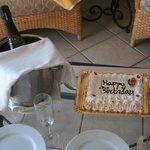 Birthday cake and Cava