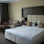 Big bed and sofa