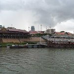 A section of Phnom Penh from a Tonle Sap River cruise