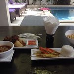 Tapas at the poolside