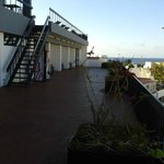 Roof terrace (in morning before sun comes round)