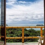 Beautiful view from room balcony at Manuel Antonio Beach, Costa Rica