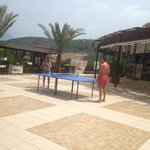 ping pong tables in the main pool area