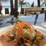 Tuna carpaccio (part of set lunch)