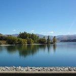 Blue lakes and dams