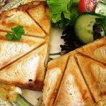 Cheese toastie.  Yum!