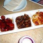 Patatas Bravas Queso / Chorizo Frito / Cordero (3x Tapas) Main course