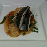 Black Bream with Seafood Ravioli