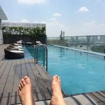 View from rooftop pool