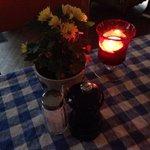 Il tavolo all'entrata