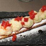 miile feuille fraises et crème vanille
