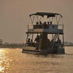 Atardecer en el rio Chobe