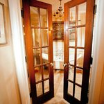 Suite#6 Enter through Restored French doors into a beautiful spacious attached bath