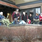 Enjoy watching the Hartford Christmas Parade from the front porch