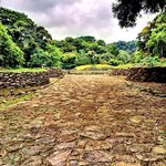 The stone paved road to Guayabo