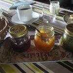 Homemade confiture for breakfast