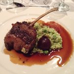 Catered meal: Rack of lamb with herb risotto and beets