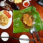 Grilled Fish Steak in Banana Leaf