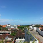 View from rooftop, facing Legian beach