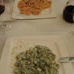 Gnocchi met gorgonzola, Penne met zalm